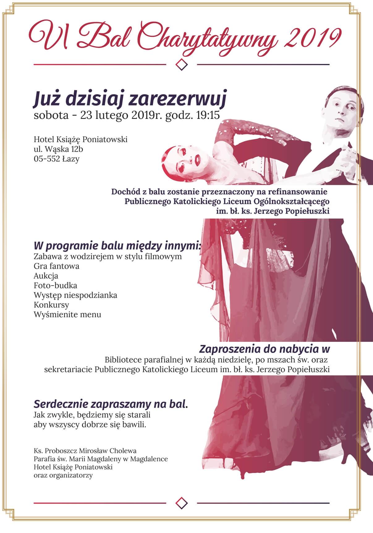 Vi Bal Charytatywny Parafia Magdalenka